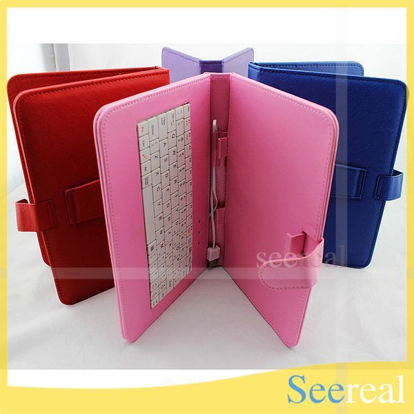 "10Pcs/Lot Keyboard Case For Tablet PC 9"" 9inch Keyboard Leather Cover For tablet PC 9 DHL Free Shipping"