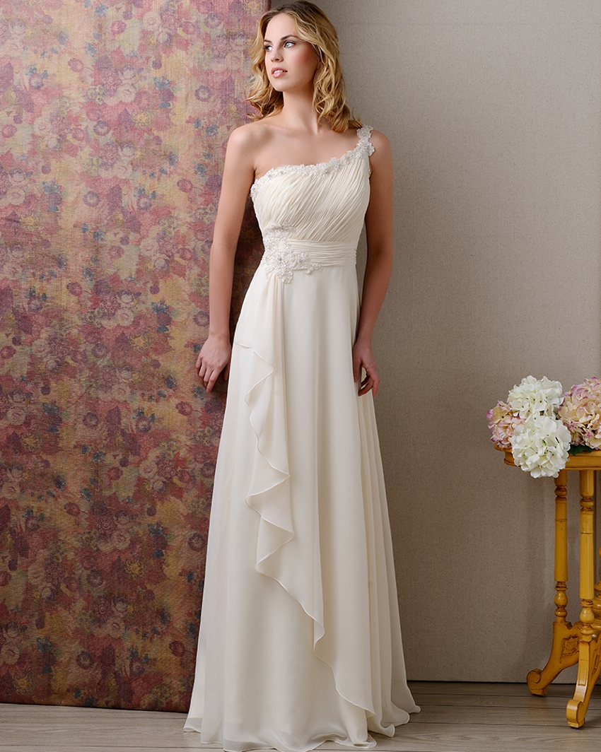 Buy vintage chiffon sexy backless cheap for Cheap chiffon wedding dresses