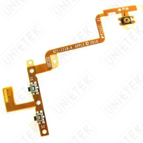 Original Volume Button Power On/Off Switch Button Flex Cable for iPod Touch 4 Repair Parts(China (Mainland))
