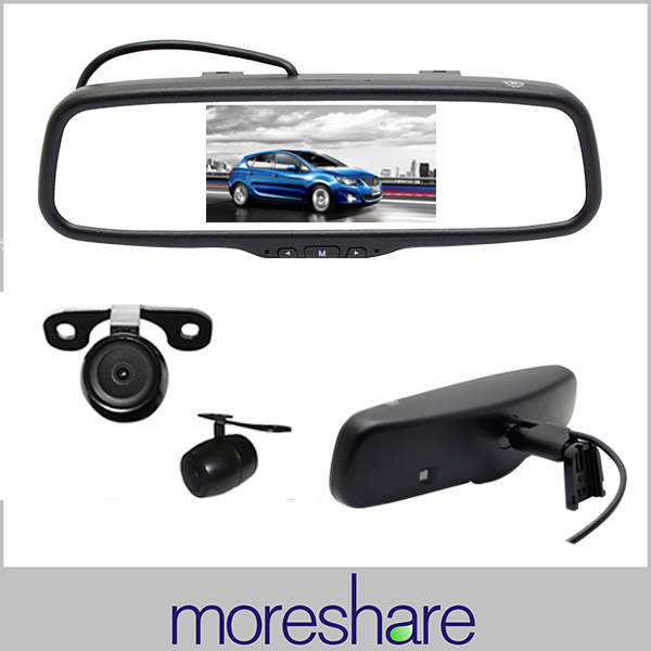 """5"""" LCD Car Rearview Mirror Monitor with Reversing Rear View Back up Camera OEM Bracket Packing Assistance Free Shipping(China (Mainland))"""