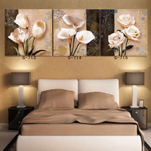Top sales pictures on the wall of the living room wall canvas oil painting of a black color orchid print painting framed T/740(China (Mainland))