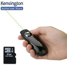 Kensington Original Wireless Green Laser Pen Remote Presenter with 4GB Memory for PPT Keynote Presentation Free Shipping(China (Mainland))