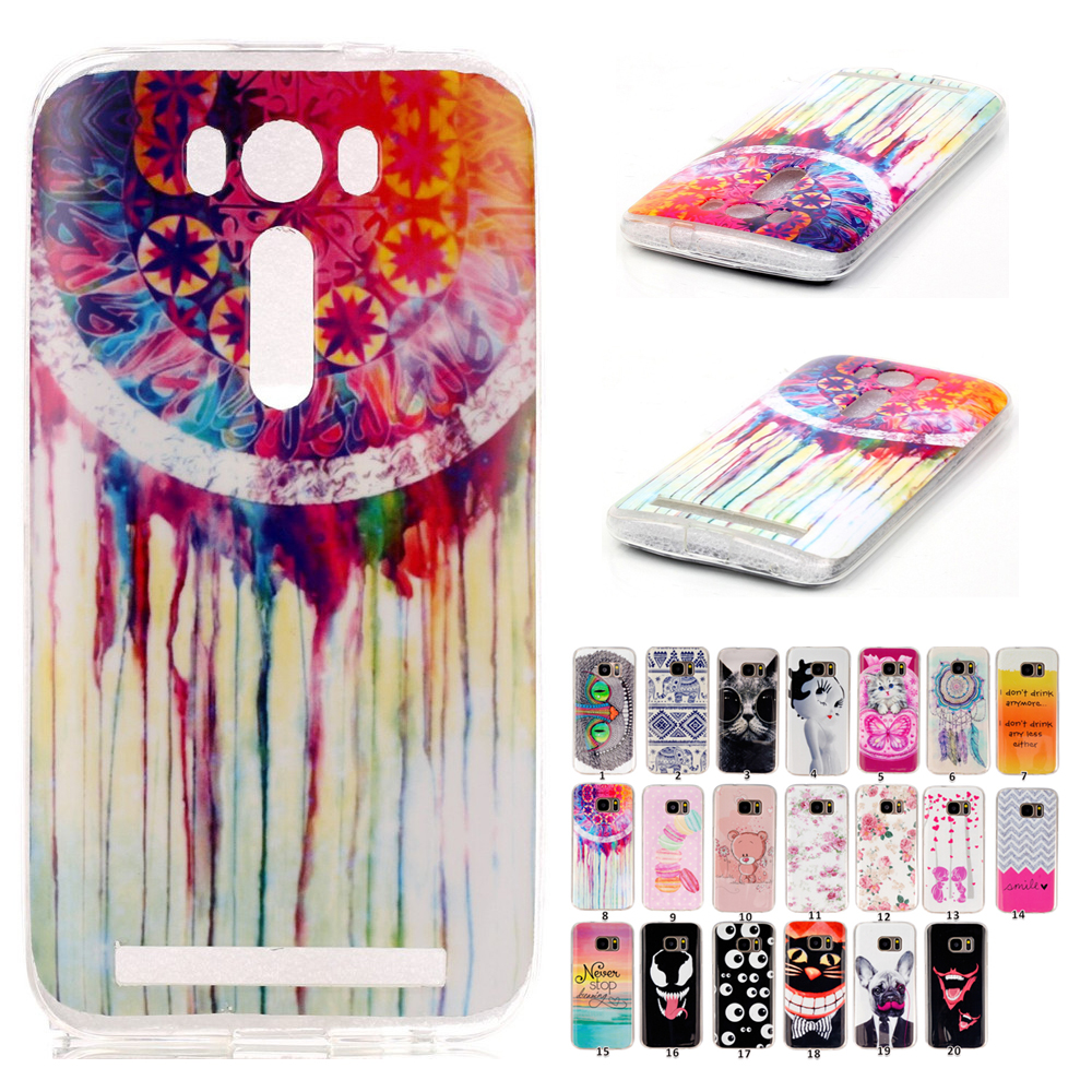 ASUS Zenfone 2 Laser ZE500KL Silicone Case Painting Cartoon Soft Cell Phone Cases Back Cover  -  Design_Life Trading Store store