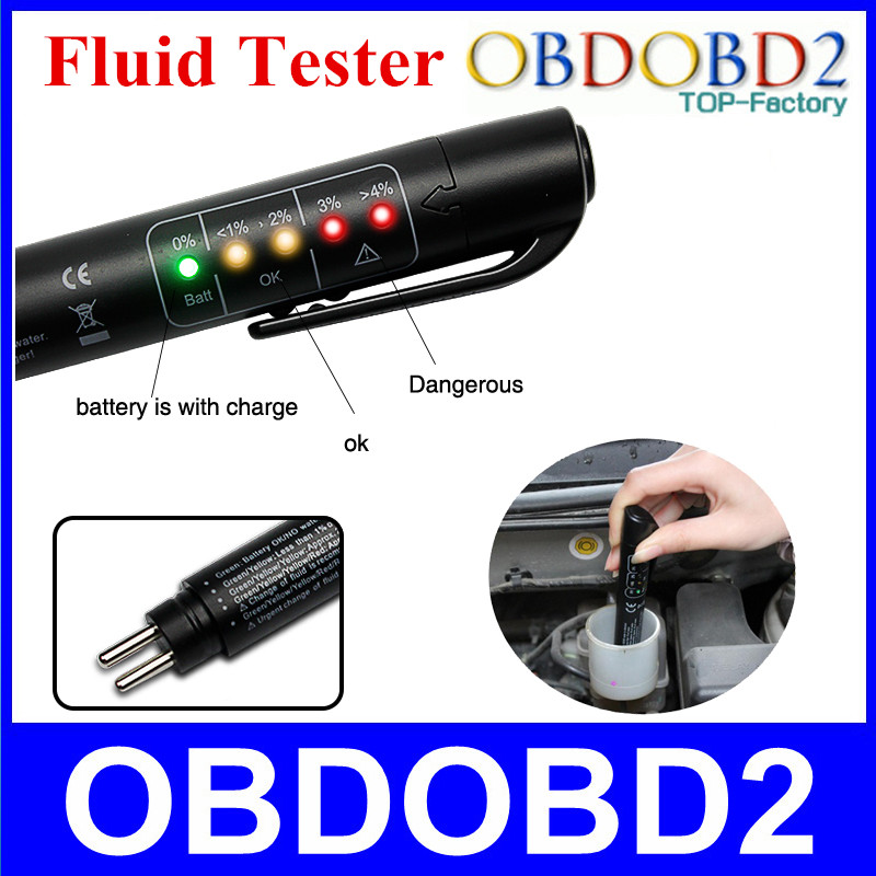 Best Quality Brake Fluid Tester Mini Electronic Pen With 5 LED For DOT3/DOT4 Car Vehicle Diagnostic Tools Car Accessories(China (Mainland))
