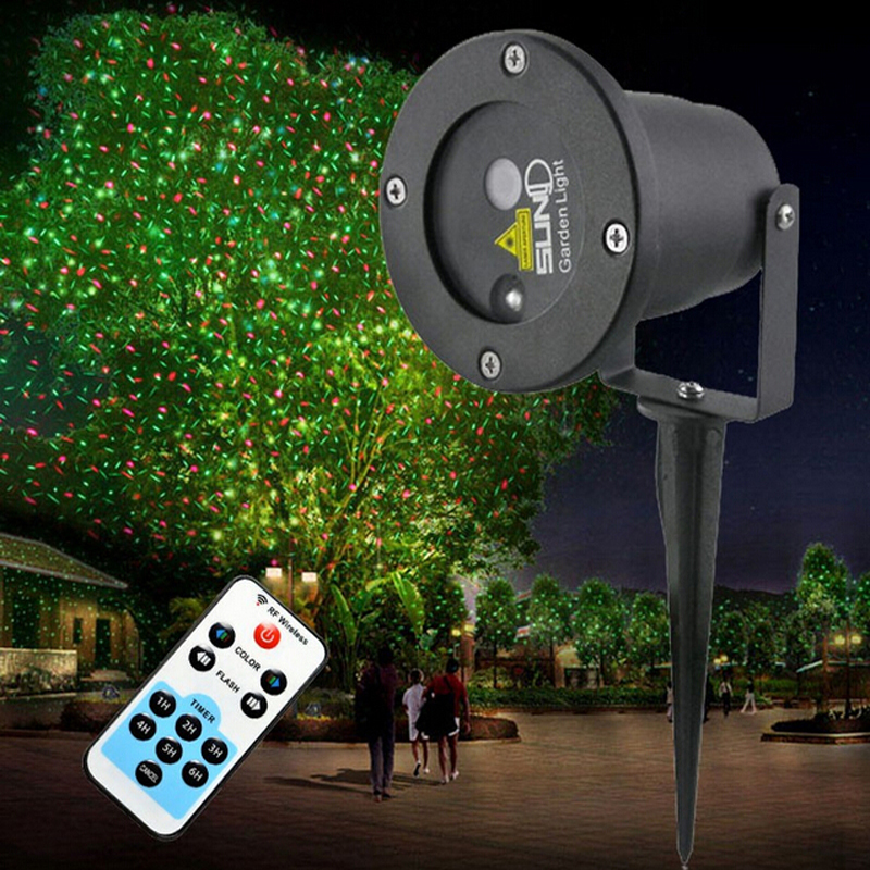 2016 waterproof outdoor laser light projector christmas for Star decorations for home