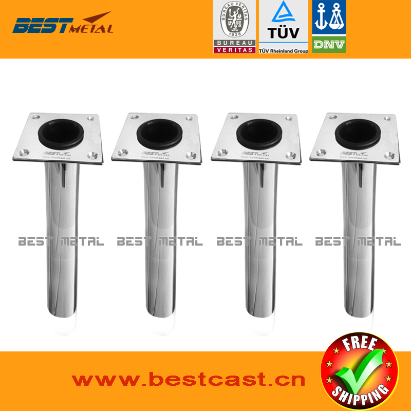 4 Pieces stainless steel  0 degree fishing rod holders<br><br>Aliexpress