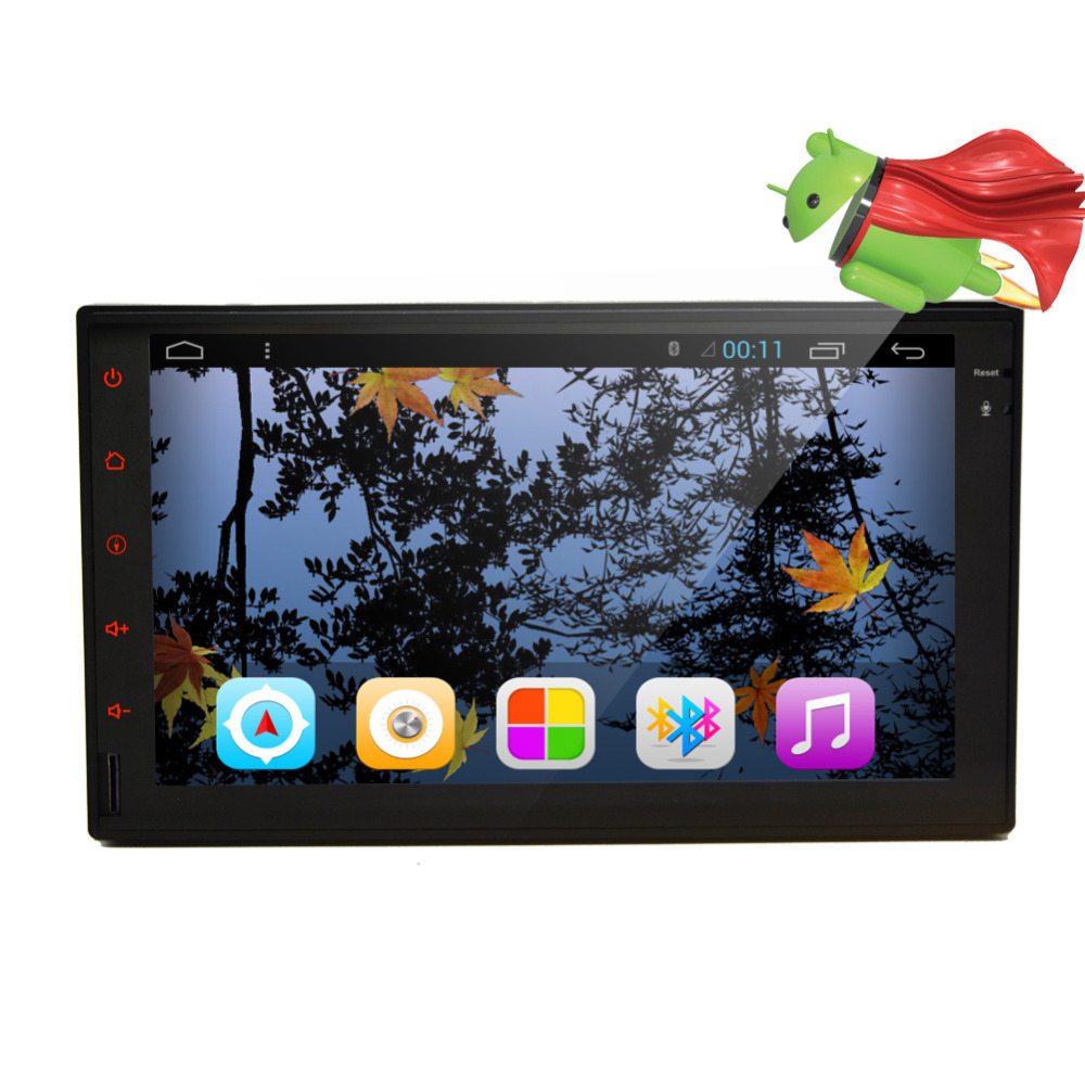 Double 2 din Pure Android 4.2 Car PC Stereo Bluetooth GPS Navigation 7'' HD In dash Car Radio No DVD mp3 Player wifi 3G iPod USB(China (Mainland))