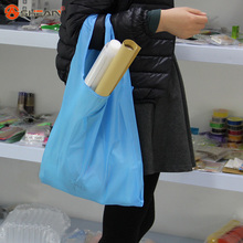 1 Pc New Eco Shopping Travel Shoulder Bag Pouch Tote Handbag Folding Reusable Bags Home Garden 10 Colors