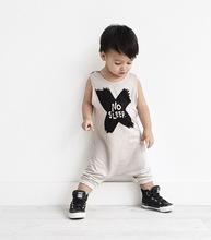 2015 New Baby Boys Girls Rompers NO SLEEP Infant Clothes Children Newborn Jumpsuit Sleeveless Summer Clothing(China (Mainland))