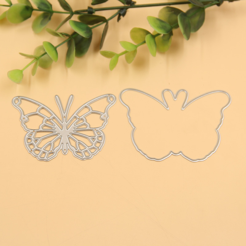 1set Butterfly Frame Metal Scrapbooking Die Cuts Craft Decorative Embossing Folder Cutting Dies Stencils Paper Cards Template