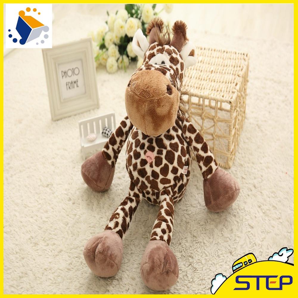 Hot Sale High Quality Deer Plush Toy Giraffe Stuffed Animal Toy Mini Baby Toys Doll Kids Gifts Free Shipping ST219(China (Mainland))