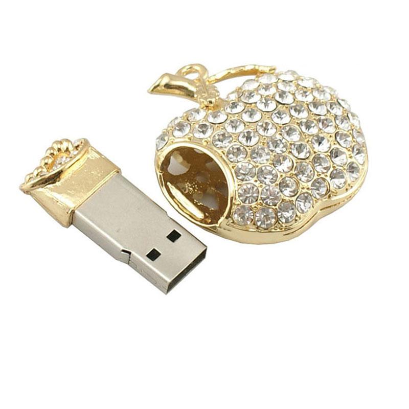 2016 Bling Diamond Metal USB Flash Drives U Disk Storage Pen Drive USB 2.0 Memory Stick Disk 2GB 4GB 8GB 16GB 32GB 64GB Pendrive(China (Mainland))