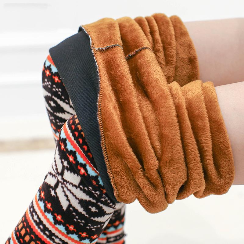 2015 New Women High Elastic Big Yards Fashion Wild Slim Was Thin Trousers Warm Pants Winter New Plus Velvet Thicken Leggings(China (Mainland))