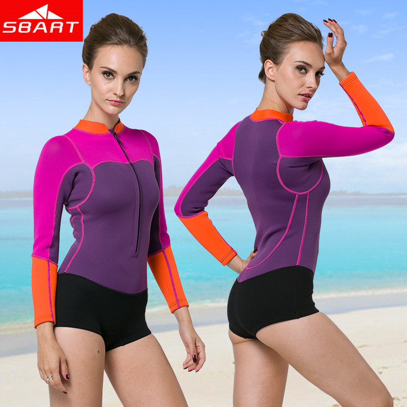 SBART 2015 Women Summer Windsurf Surfing Cloth Diving Swimming Long Sleeve Lycra Snorkeling Wetsuit Surf Rashguard Swimsuit J941(China (Mainland))