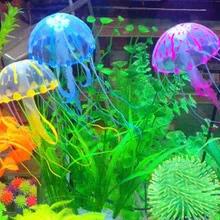 New Tank Ornament Swim Glowing Effect Jellyfish Jar Decoration For Aquarium Fish Free Shipping(China (Mainland))