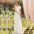 2017 Vestido De Noiva Summer Beach Tulle Wedding Dresses V Neck Sleeveless Button Bridal Gowns Back