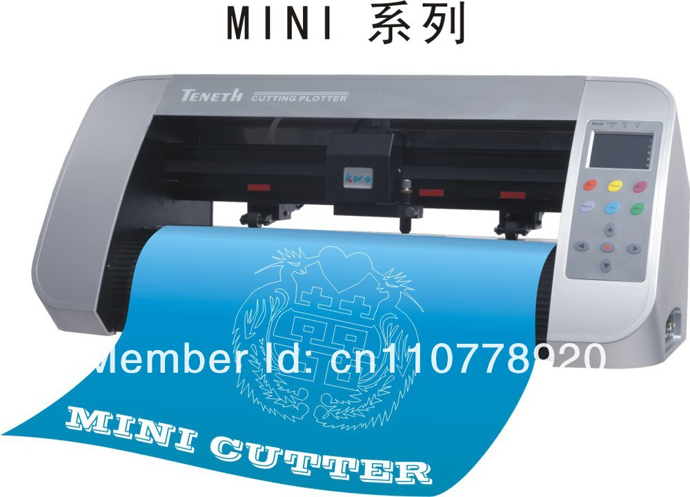 Portable vinyl cutting plotter for sign cut / Contour Vinyl cutter plotter TH330+artcut software(China (Mainland))