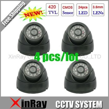 Free Shipping,Surveillance 420TVL Night Vision Color IR Indoor Dome CCTV Camera ,Home Security Camera,XR-IC420-1,Wholesale