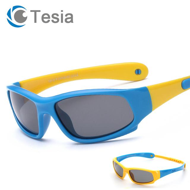 TESIA Спортивные Детские Солнцезащитные Очки Бренд Дизайнер Силиконовые Защитные Очки Поляризованные Очки Для Детей С Группой S8110