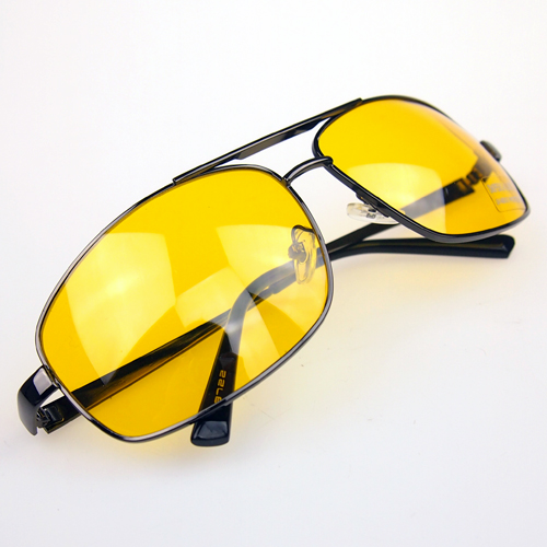 2016 High Quality Night Driving Vision Yellow Lens Sunglasses Driver Safety Sun glasses Goggles type glass Brand New(China (Mainland))