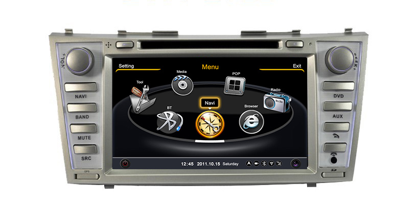 Free shipping + Map software S100 Car GPS System with DVD Players Toyota Camry 2007-2011 Car dvd with wifi 3G 1G CPU Host S100(China (Mainland))