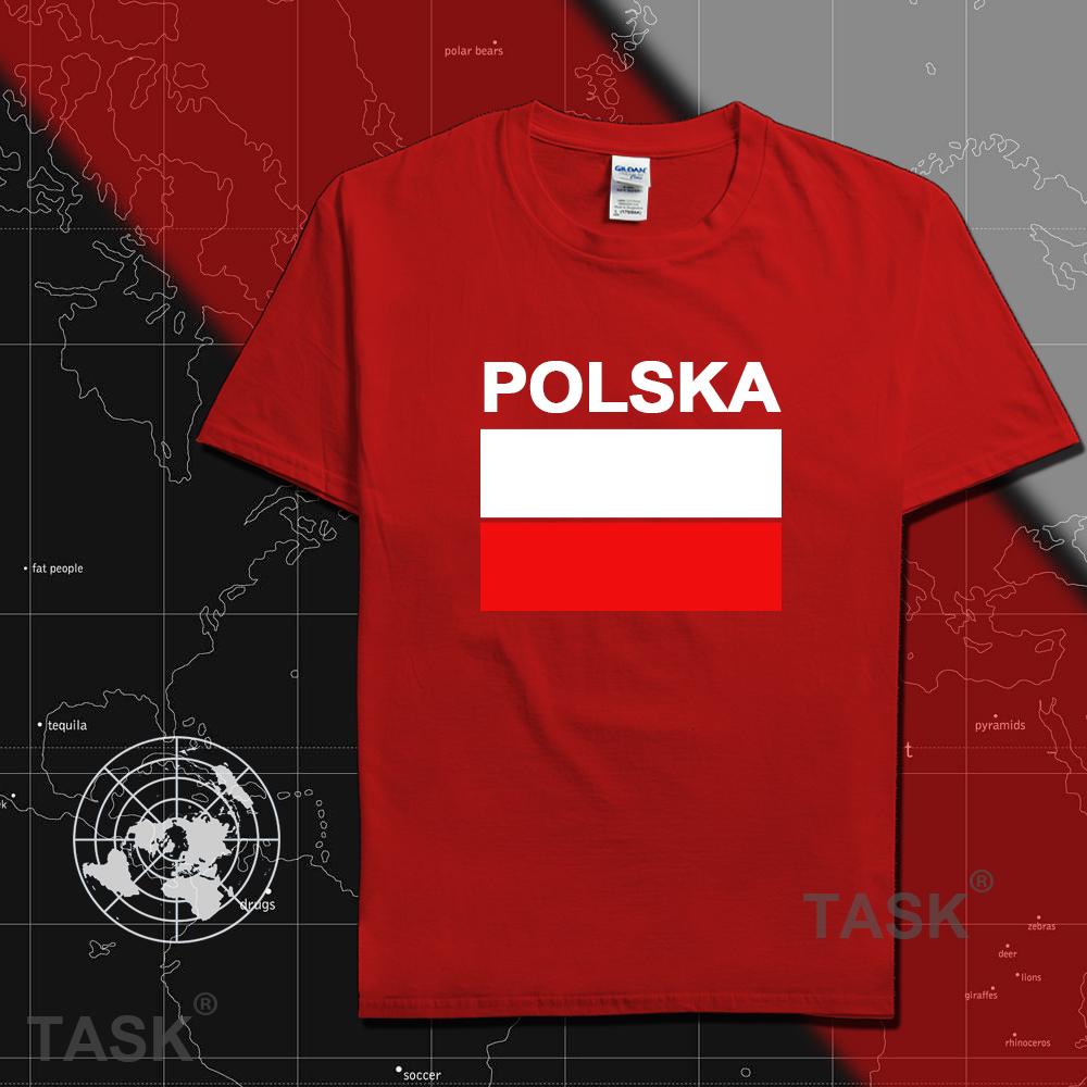 Poland men t shirts Polish POLE 2016 jerseys hip hop nations cotton t-shirt fitness footballs tees country POLAK flags Polska(China (Mainland))