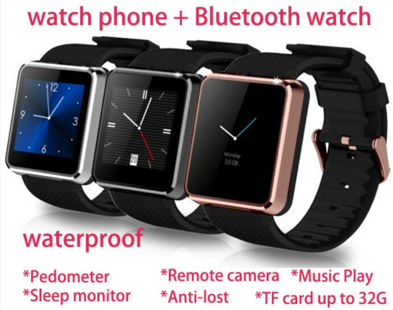 Bluetooth F1 Smart Watch waterproof Wristwatch Hands-free for iPhone Samsung HTC Smartphone(China (Mainland))
