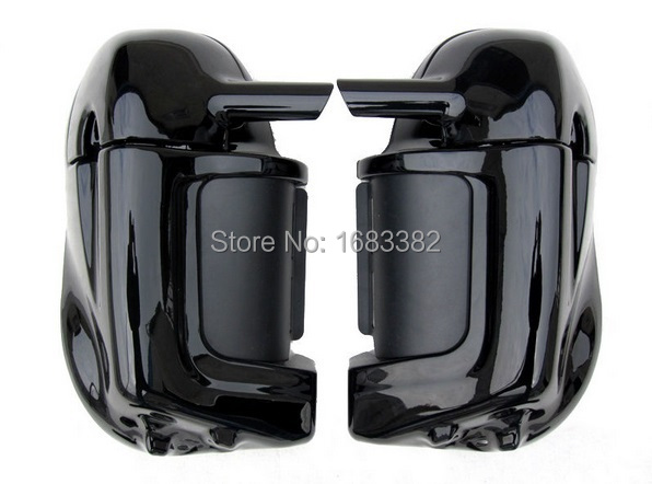 Фотография New Motorcycle Painted Bright Vivid Black Lower Vented Leg Fairing Hardware For Harley Davidson Touring HD Road King Parts