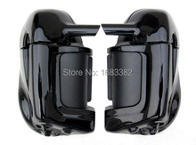 New Motorcycle Painted Bright Vivid Black Lower Vented Leg Fairing Hardware For Harley Davidson Touring HD Road King Parts