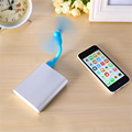 Mini Cool Portable Power Bank USB Fan Bendable removable USB Gadgets For Xiaomi 18650 Powerbank Desk