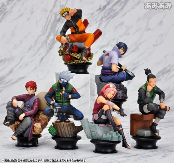 2015 Boys' Model Toy Gift 6Pcs/Lot PVC Anime Generation Chess Titans Naruto Action Figure Decoration Kakashi Sakura Haruno WJ031(China (Mainland))