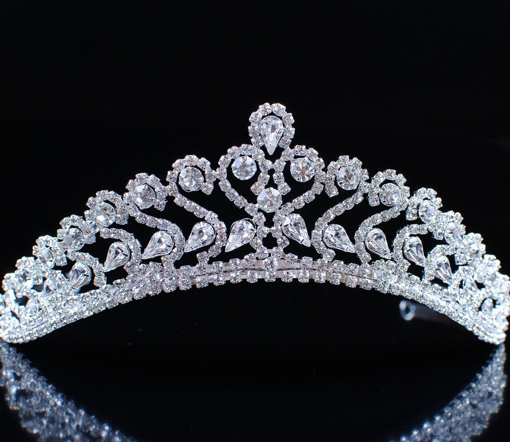 Bridal Jewelery Wedding Party Quality Austrian Rhinestones Crystal Crowns and Tiaras Headband Accessories for Hair Jewelry<br><br>Aliexpress