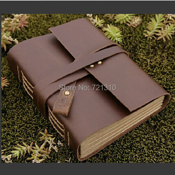 Vintage Retro 100% Handmade Leather Notebook Diary Book Notepad School Office Supplies Creative Birthday Gift 180 Sheets Pages - chengfu zhang's store