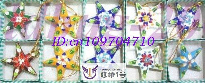 CHRISTMAS WHOLESALE 10PCS CLOISONNE&LUCKY STARS SET(China (Mainland))