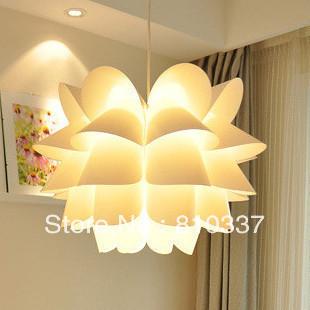 Здесь можно купить  NEW Modern 35cm white PP Lotus shape lamp light pendent lighting bedroom Chandelier  Свет и освещение