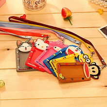 Buy YIYOHI Cartoon Totoro Hello Kitty Bank Credit Card Holders Unisex Silicone Neck Strap Card Bus ID Holders Identity Badge Lanyard for $1.51 in AliExpress store