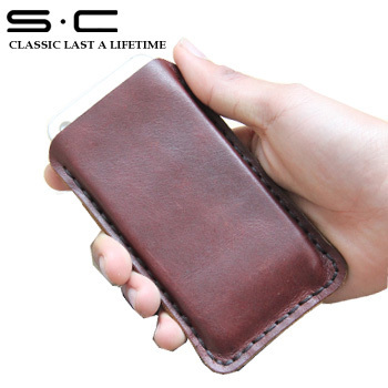 multi-function phone case for iphone 5s in double card slot and phone cover in brown color free shipping 2013