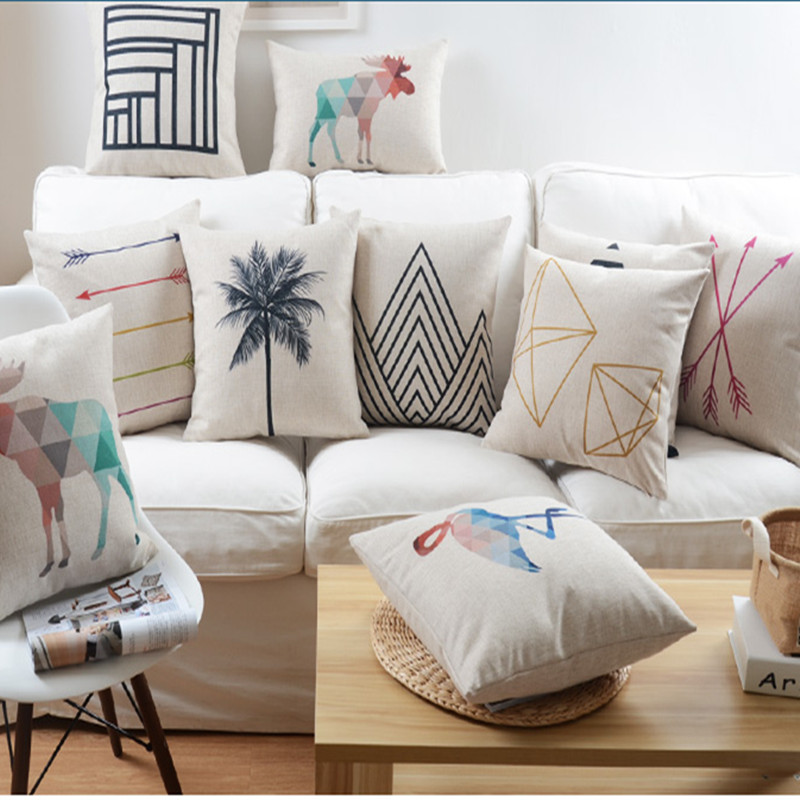nordic abstract geometric home decor pillow cushion linen
