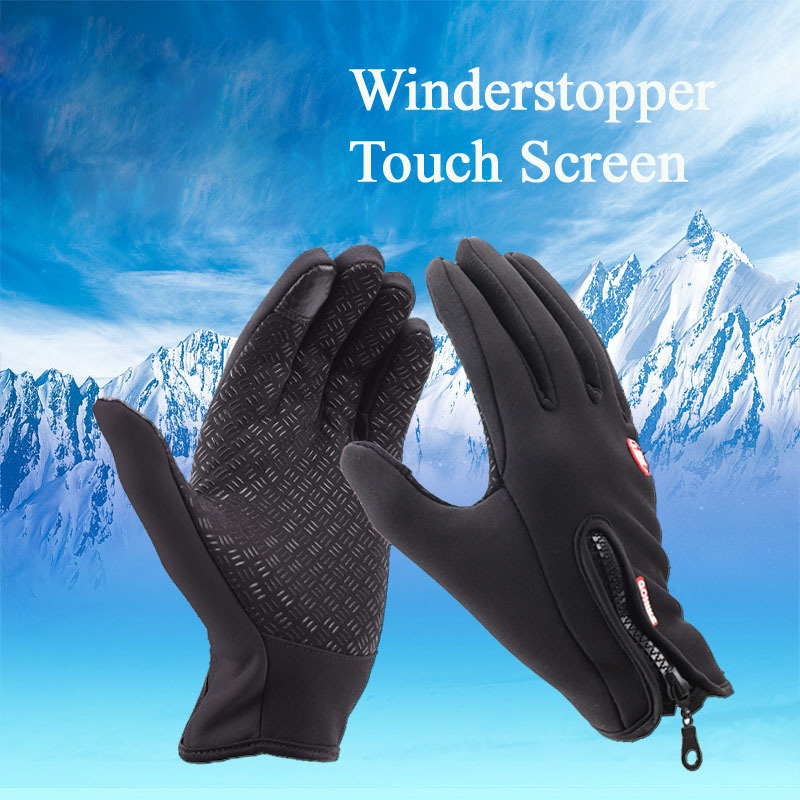 New Winter Outdoor Sport Windstopper Waterproof Gloves Black Riding Glove Motorcycle Gloves Long Finger Cyling Gloves(China (Mainland))