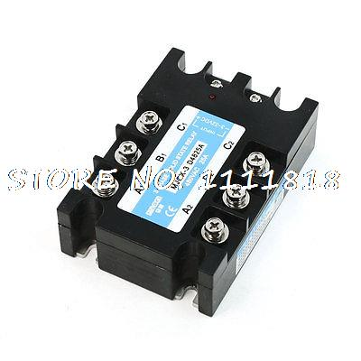 Black Retangle DC to AC 3 Phase Plastic Case Solid State Relay<br><br>Aliexpress