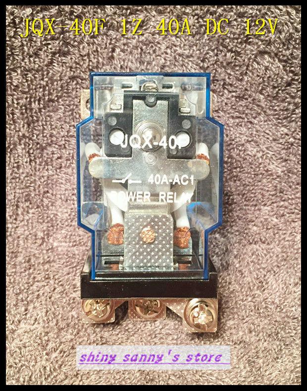 1Piece JQX-40F 1Z 40A  DC 12V Coil PCB Power Relay Brand New<br><br>Aliexpress
