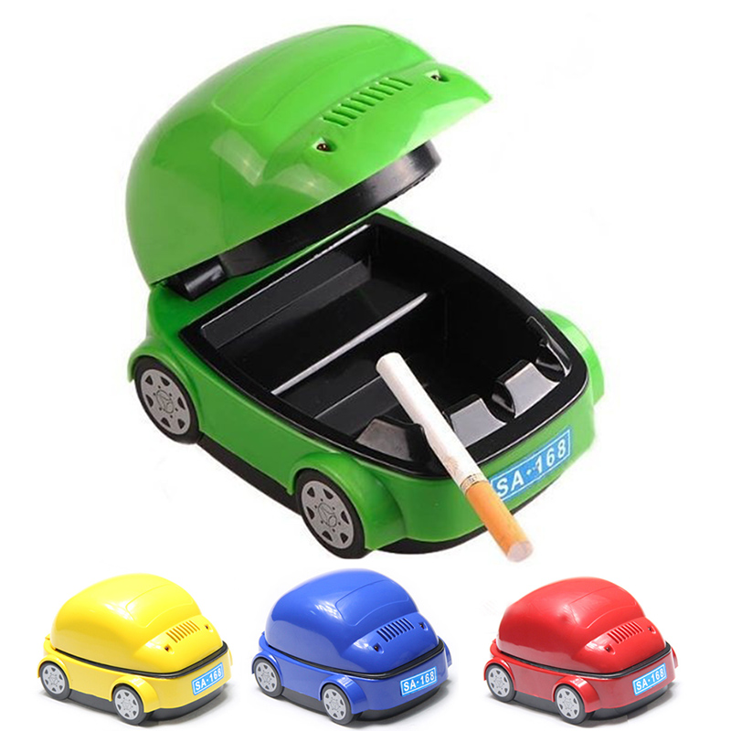 1 set New Car Shaped Cigarette Smokeless Ashtray Purifier USB Good For Your Health #MD705(China (Mainland))