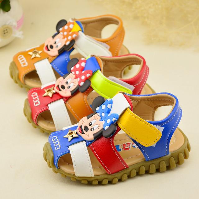 2016 летние новые детские сандалии мальчиков мультфильм полые дышащая детская обувь детская обувь девушки кроссовки красно-коричневый Blue13CM-15CM