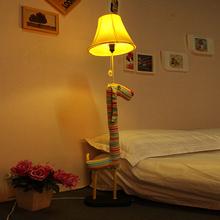 creative Lovely morden fabric Striped Dog floor lamp romantic Kid's Study Room floor lamp cute children bedroom floor lights
