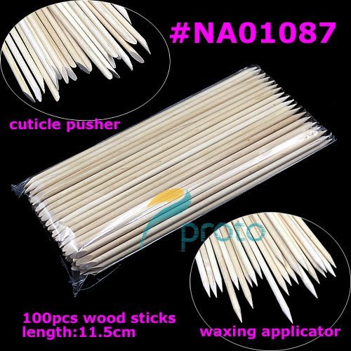 100pcs Orange Wood Sticks Nail Art Cuticle Pusher Remover Wholesales SKU:F0047