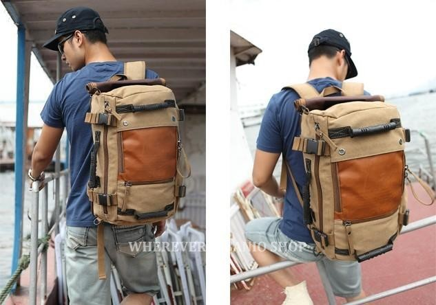 Многофункциональный kaukko мужская холст стиль армия плеча сумку путешествия тактические рюкзаки военные 3 ways_m210