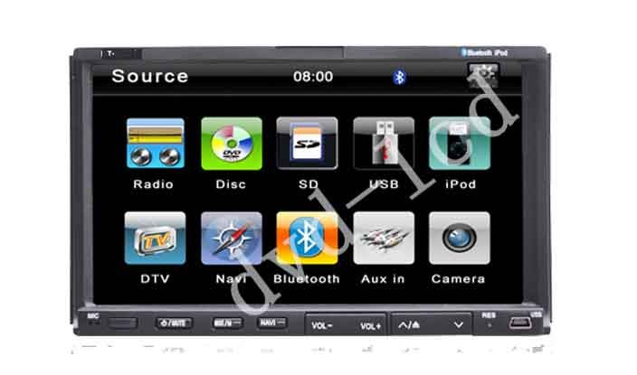 wholesale Double din 2 din two din car dvd player with HD TFT LCD bluetooth GPS Navigation for wholesale(China (Mainland))