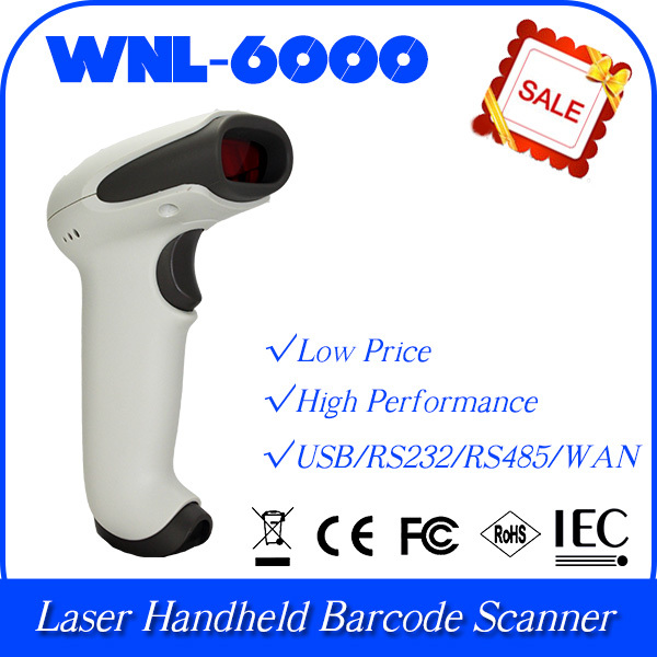 10 pcs/lot Customized WNL-6000 -S01 1D Laser Handheld Barcode Reader Scanner Data Collector(China (Mainland))