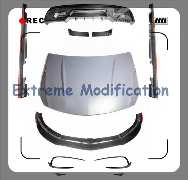 2013-2015 Benz W176 A260 A45 R Design Carbon Fiber Lip Body Kit - Front with Add On, Rear, Sides, Hood(China (Mainland))