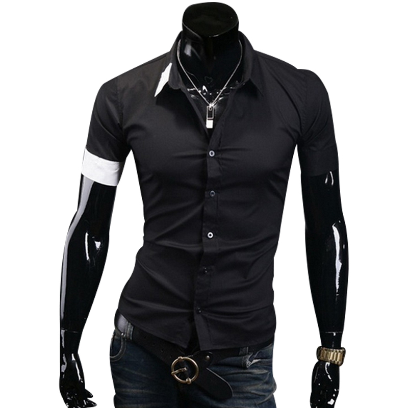 Shirt 2014 button down short sleeve shirts top for men for Top mens button down shirts